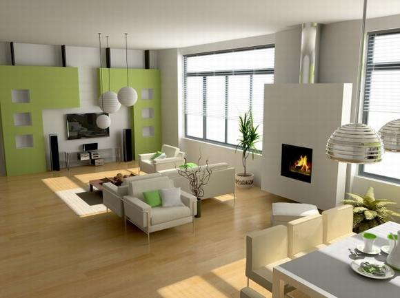 trang tri phong khach tuyet dep voi noi that mau xanh 2 ngoisao.vn Thiết kế và trang trí phòng khách tuyệt đẹp với điểm nhấn nội thất màu xanh