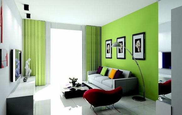 trang tri phong khach tuyet dep voi noi that mau xanh 3 ngoisao.vn Thiết kế và trang trí phòng khách tuyệt đẹp với điểm nhấn nội thất màu xanh