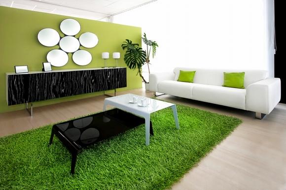 Thiết kế và trang trí phòng khách tuyệt đẹp với điểm nhấn nội thất màu xanh