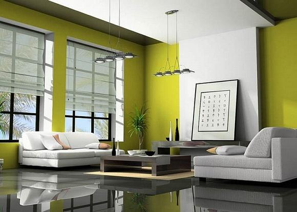 trang tri phong khach tuyet dep voi noi that mau xanh 5 ngoisao.vn Thiết kế và trang trí phòng khách tuyệt đẹp với điểm nhấn nội thất màu xanh