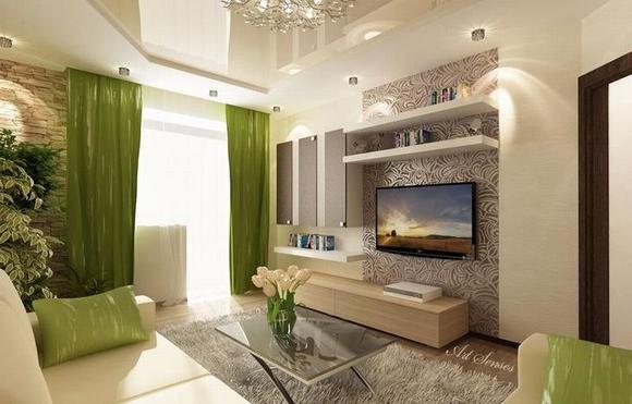 trang tri phong khach tuyet dep voi noi that mau xanh 7 ngoisao.vn Thiết kế và trang trí phòng khách tuyệt đẹp với điểm nhấn nội thất màu xanh