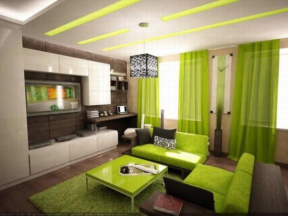 trang tri phong khach tuyet dep voi noi that mau xanh 8 ngoisao.vn Thiết kế và trang trí phòng khách tuyệt đẹp với điểm nhấn nội thất màu xanh
