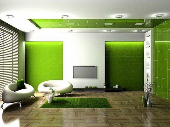 trang tri phong khach tuyet dep voi noi that mau xanh 9 ngoisao.vn Thiết kế và trang trí phòng khách tuyệt đẹp với điểm nhấn nội thất màu xanh