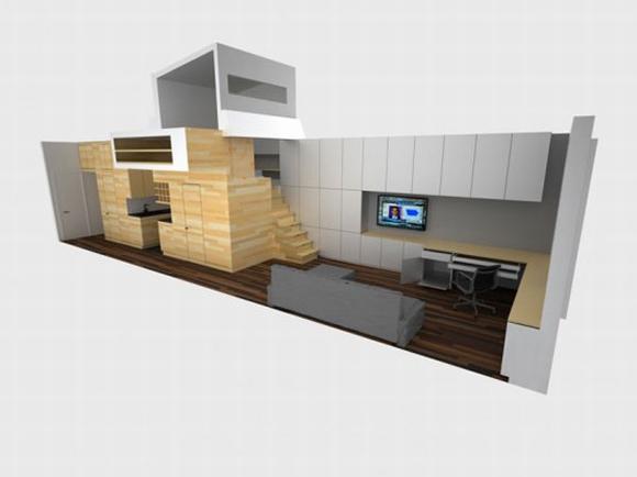 khong gian noi that tuyet voi cho ngoi nha rong 46m2 1 ngoisao.vn Tham quan không gian nội thất tuyệt vời của ngôi nhà 46 m2