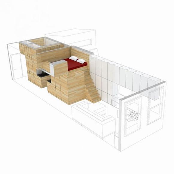 khong gian noi that tuyet voi cho ngoi nha rong 46m2 ngoisao.vn Tham quan không gian nội thất tuyệt vời của ngôi nhà 46 m2