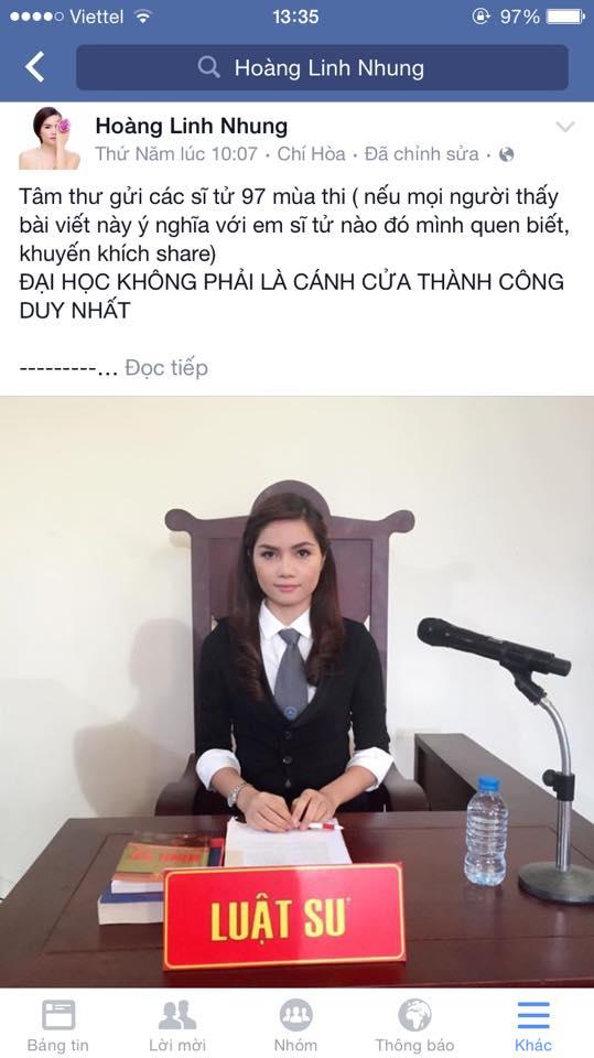 Hoàng Linh Nhung gây sốt với bức tâm thư gửi các sĩ tử