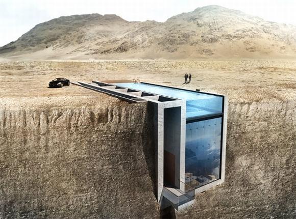 Nhà trên vách đá ven biển có mái bể bơi độc đáo, nhà đẹp, nhà trên vách đá, tin ngôi sao