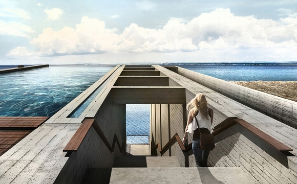 Nhà trên vách đá ven biển có mái bể bơi độc đáo