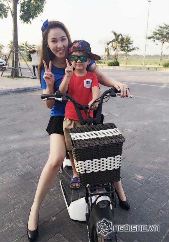 Quỳnh Thư,Quỳnh Thư cực tình cảm với con riêng của bạn trai,bạn trai Quỳnh Thư,siêu mẫu Quỳnh Thư
