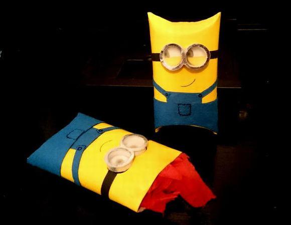 Làm Minions bằng lõi giấy vệ sinh, cách làm Minions bằng lõi giấy vệ sinh, làm Minions, cách làm Minions, Minions, tin ngoi sao
