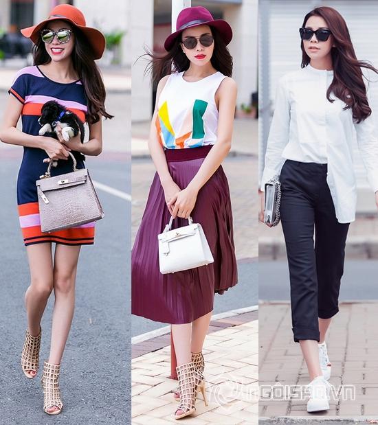 Thời trang đời thường, sao Việt, thời trang của sao Việt, Ngọc Trinh, Khánh My, Trà Ngọc Hằng, tin ngoi sao