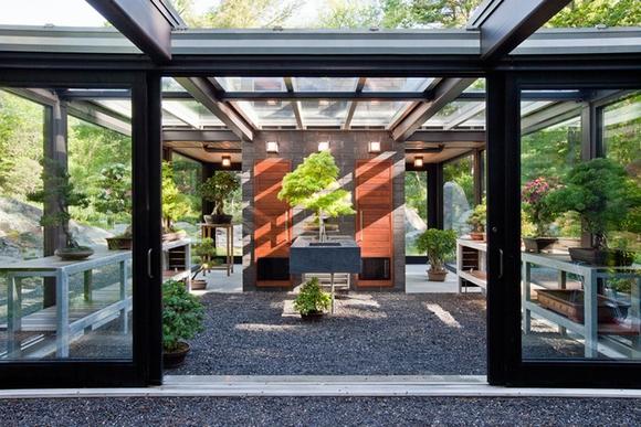 ngôi nhà vườn bằng kính độc đáo, nhà đẹp, mẫu nhà đẹp, nội thất, chung cư, tin ngôi sao