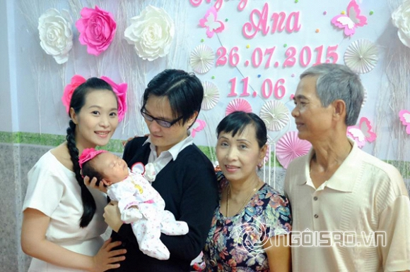Lê Kiều Như, ca sĩ Lê Kiều Như, nhạc sĩ Nguyễn Nhất Huy, Lê Kiều Như sinh con gái, vợ chồng Lê Kiều Như mở tiệc đầy tháng cho con gái