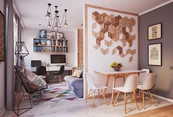Nội thất đẹp của ngôi nhà có diện tích 40 m2 0