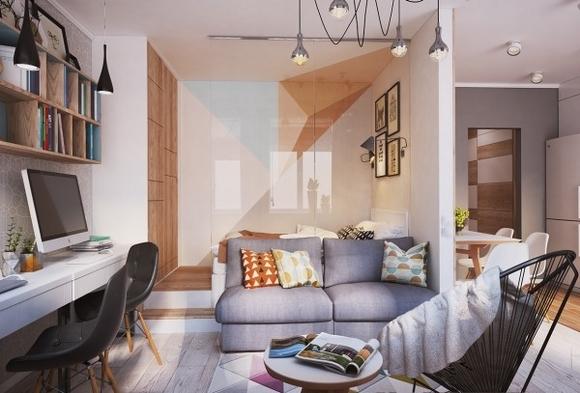 Nội thất đẹp của ngôi nhà có diện tích 40 m2 8