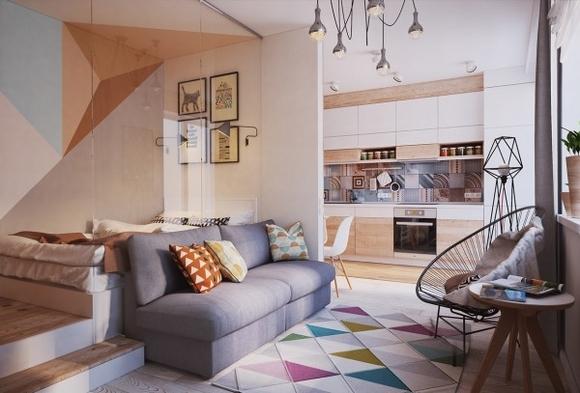Nội thất đẹp của ngôi nhà có diện tích 40 m2 3