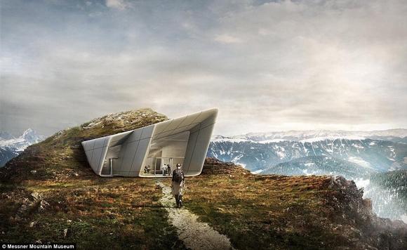 bao tang tren dinh nui 11 ngoisao.vn Cùng nhìn qua kiến trúc độc đáo của bảo tàng trên đỉnh núi cao 2286m