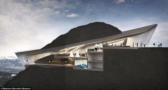 bao tang tren dinh nui 18 ngoisao.vn Cùng nhìn qua kiến trúc độc đáo của bảo tàng trên đỉnh núi cao 2286m