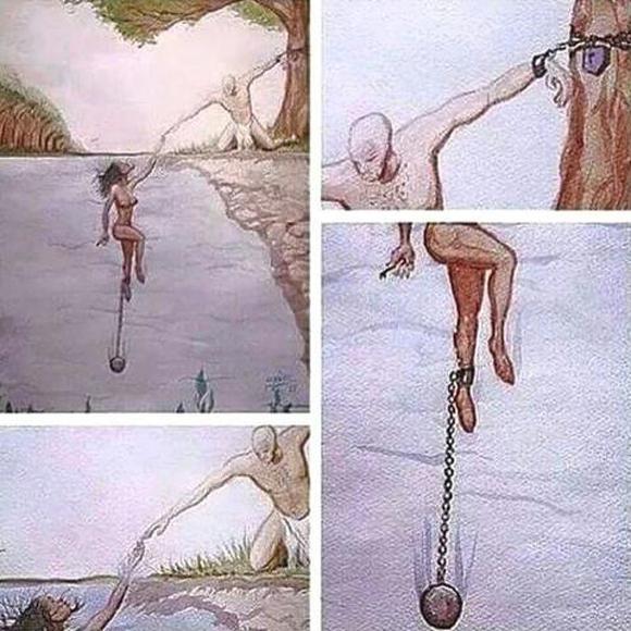 Bức tranh ẩn dụ về tình yêu gây tranh cãi