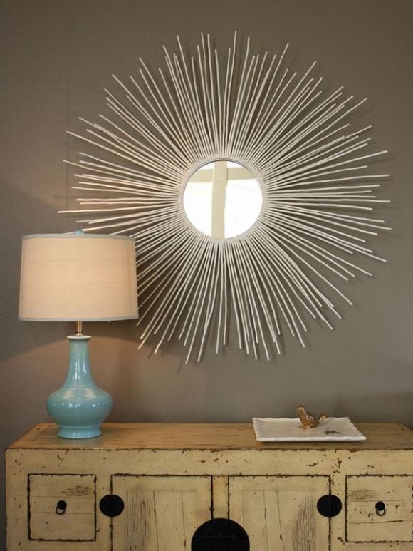 Trang trí gương đơn giản giúp làm đẹp không gian nhà 6