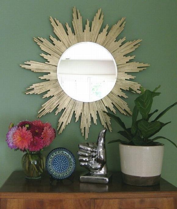 Trang trí gương đơn giản giúp làm đẹp không gian nhà 15