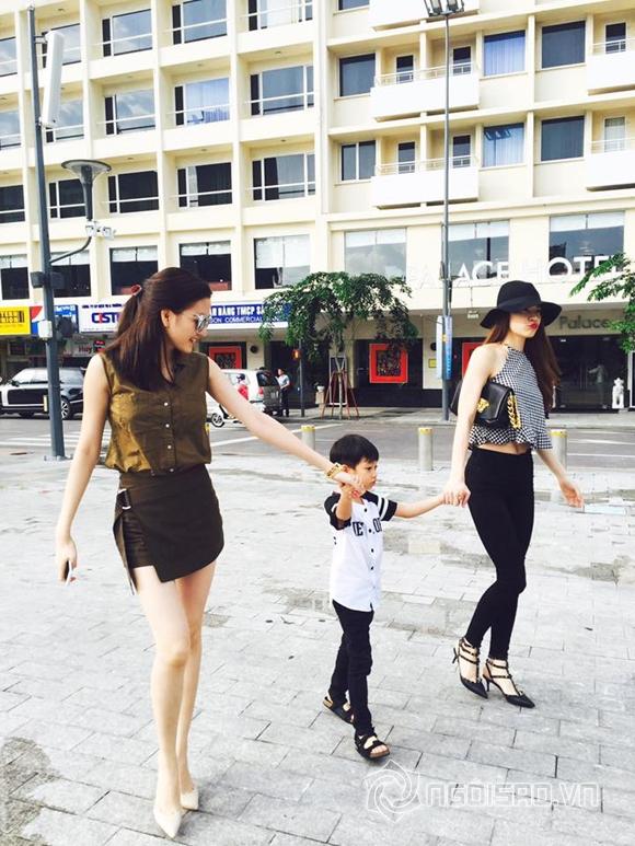 Hồ Ngọc Hà đưa Subeo đi chơi cùng Thiều Bảo Trang 0