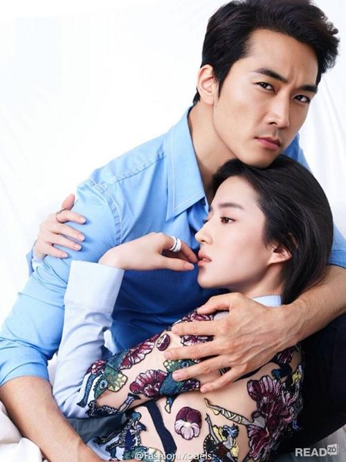 Song Seung Hun Lưu Diệc Phi hôn nhau 2