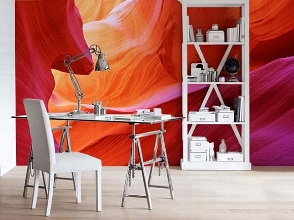 Trang trí nội thất tuyệt đẹp với tranh tường 16