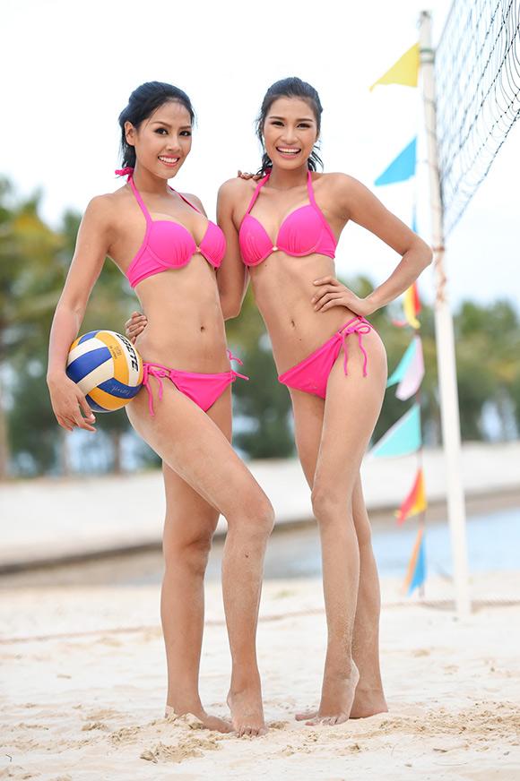 Hoa hậu Hoàn vũ Việt Nam 2015, thí sinh Hoa hậu Hoàn vũ Việt Nam 2015 diện bikini, thí sinh Hoa hậu Hoàn vũ Việt Nam 2015 chơi bóng chuyền, Top 45 Hoa hậu Hoàn vũ Việt Nam 2015