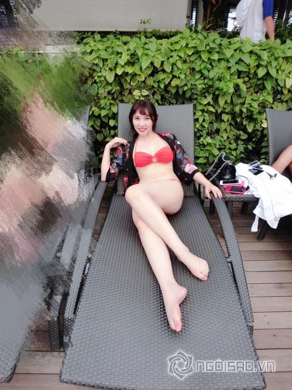 quỳnh thư,quỳnh thư giảm 5kg,quỳnh thư diện bikini,quỳnh thư nóng bỏng với bikini, sao việt, tin tức sao