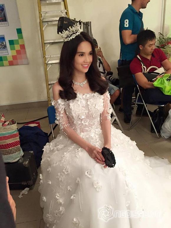 Ngọc Trinh mặc váy cưới  2