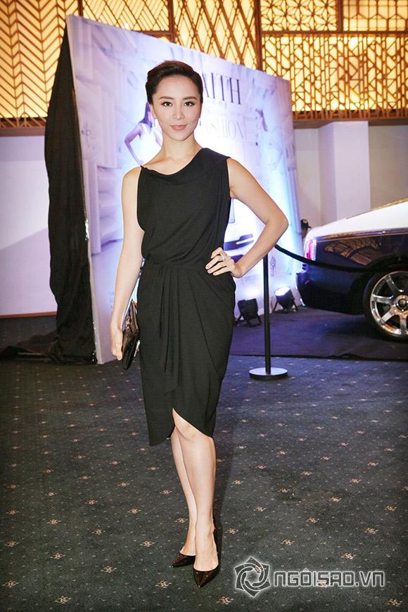sao Việt, Lý Nhã Kỳ, diễn viên Lý Nhã Kỳ, Lý Nhã Kỳ đi xem thời trang, Elle Show, sao Việt đi xem thời trang