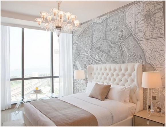 trang tri nha voi ban do 3 211209225 ngoisao.vn Thiết kế và trang trí nhà ấn tượng với bản đồ