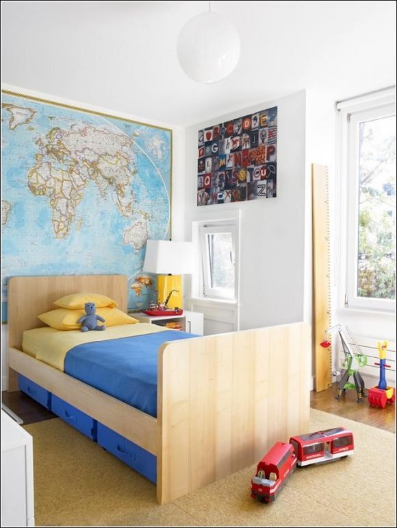 trang tri nha voi ban do 6 211209131 ngoisao.vn Thiết kế và trang trí nhà ấn tượng với bản đồ