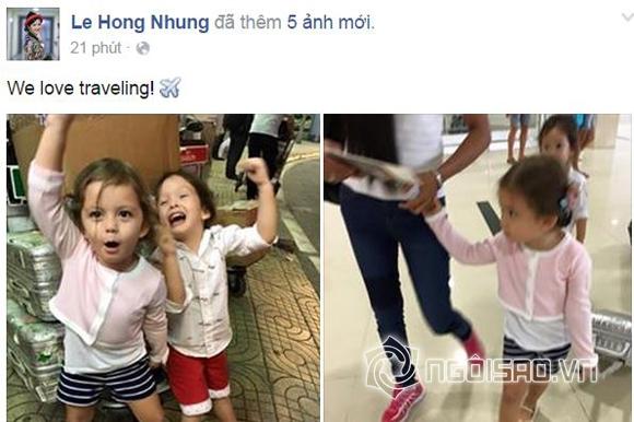 hai con Hồng Nhung, ca sĩ Hồng Nhung, Hồng Nhung đi du lịch, con Hồng Nhung, chồng Hồng Nhung, gia đình Hồng Nhung, sao việt