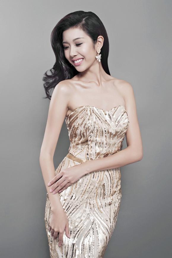 Thúy vân,á khôi thúy vân,hoa hậu quốc tế 2015,Miss International 2015,trang phục dạ hội của thúy vân,quốc phục của thúy vân,sao việt