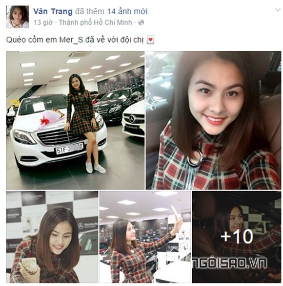 Vân Trang khoe xế hộp 0