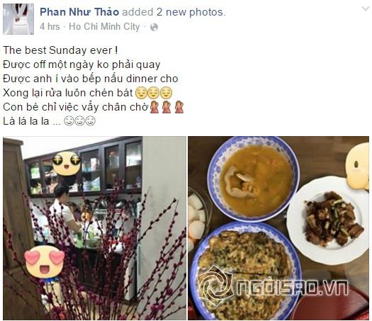 Phan Như Thảo được chồng đại gia nấu cơm 1