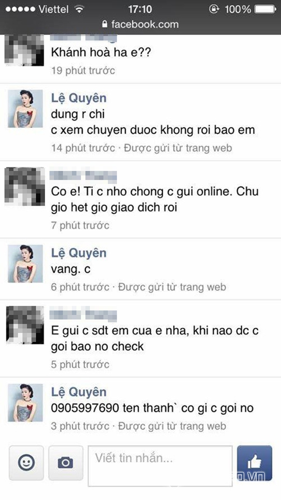 Sao Việt bị hack facebook 7
