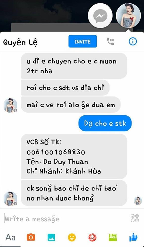 Sao Việt bị hack facebook 6