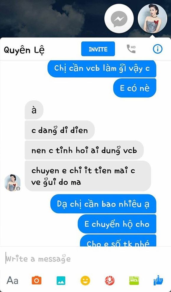 Sao Việt bị hack facebook 5