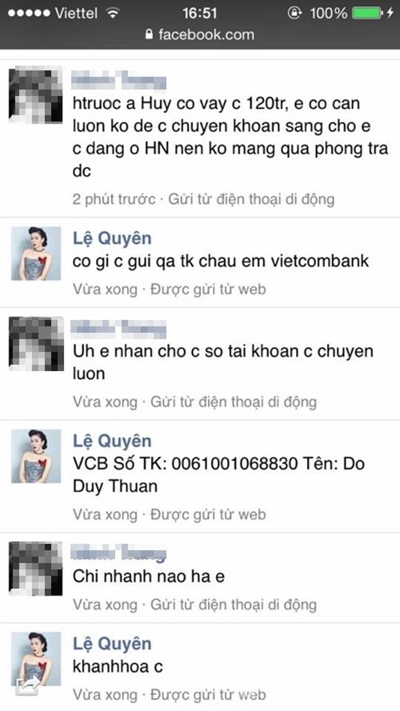 Sao Việt bị hack facebook 4