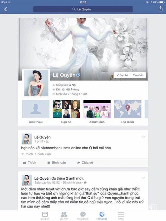 Sao Việt bị hack facebook 3