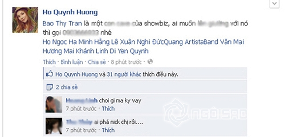 Sao Việt bị hack facebook 8