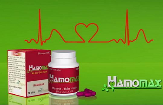 Nần nghệ, TPCN Hamomax, Điều trị bệnh tim mạch