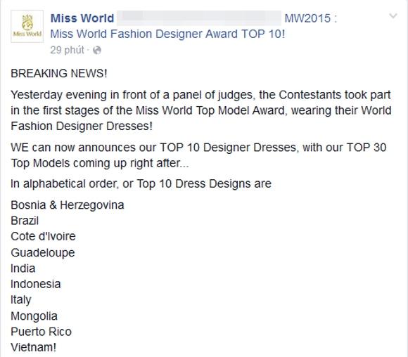 Váy dạ hội của Lan Khuê lọt top 10 trang phục đẹp nhất 10