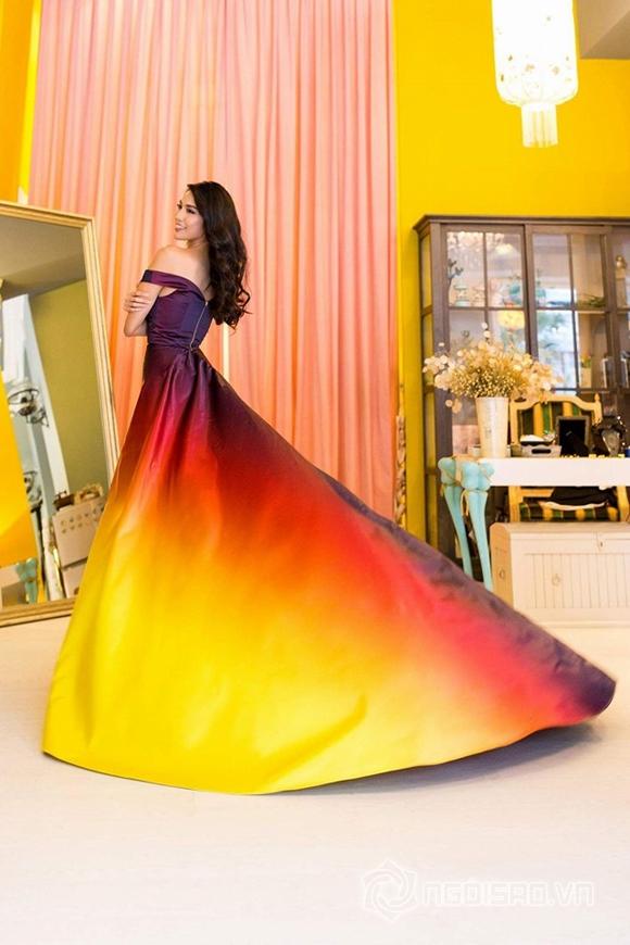Váy dạ hội của Lan Khuê lọt top 10 trang phục đẹp nhất 3