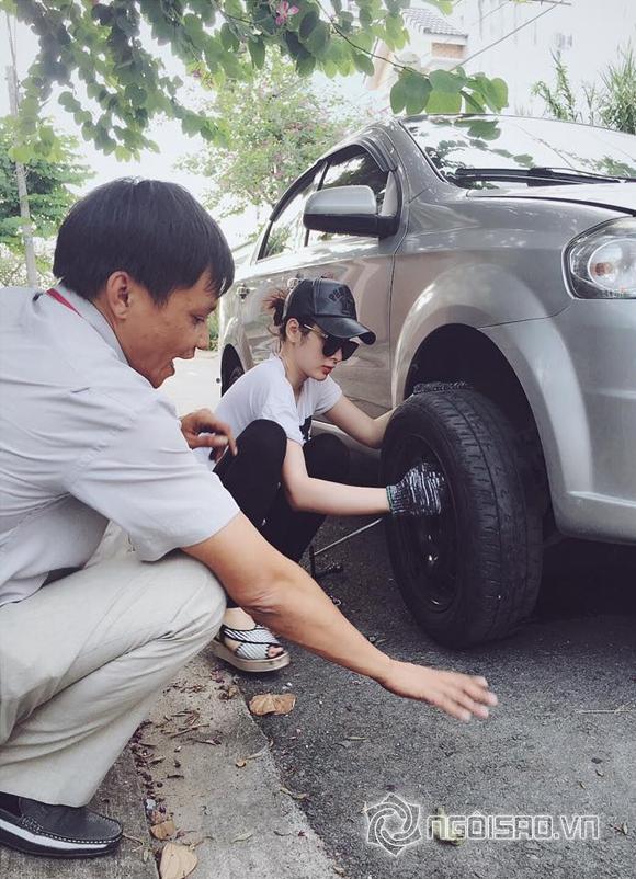 Angela Phương Trinh bất ngờ học sửa xe ô tô 0