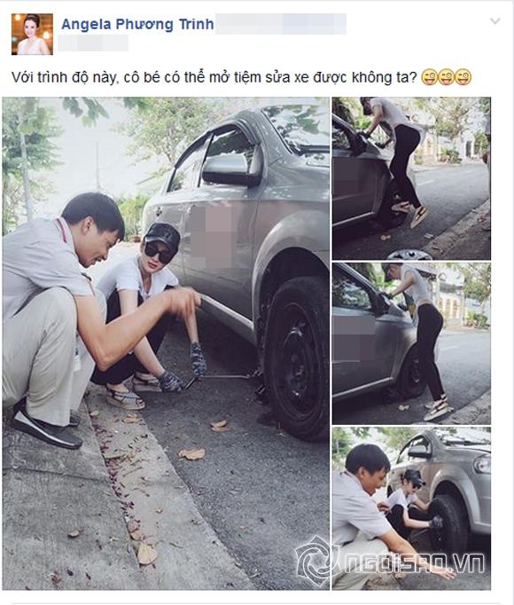 Angela Phương Trinh gây bất ngờ khi học sửa xe ô tô 3