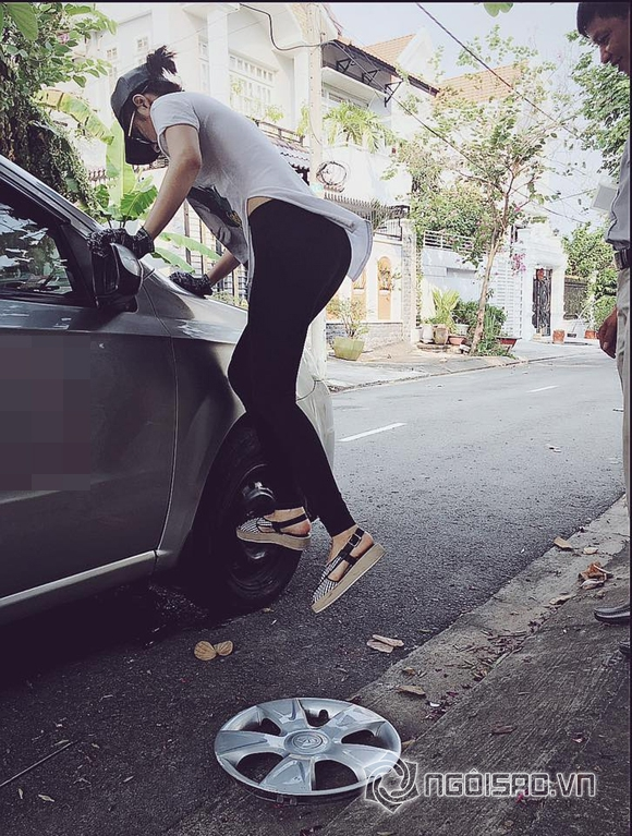 Angela Phương Trinh gây bất ngờ khi học sửa xe ô tô 0
